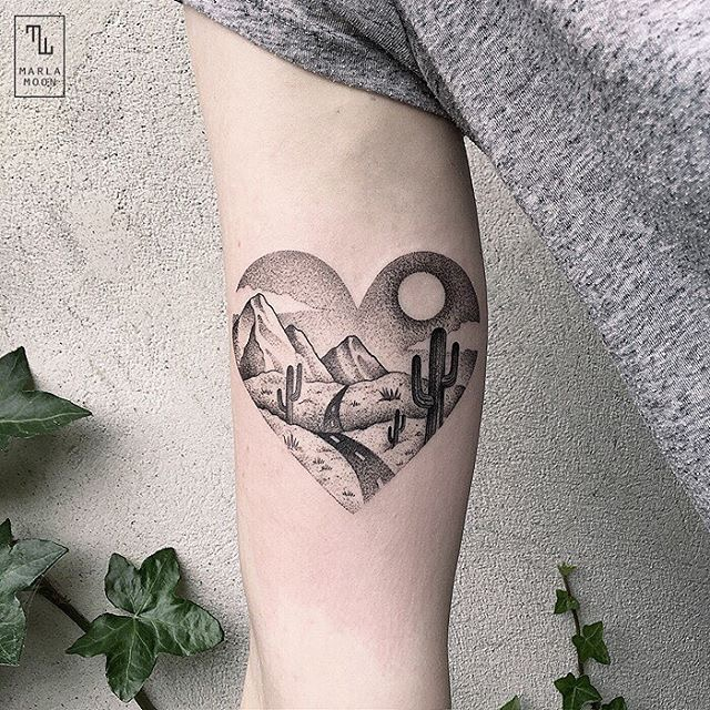 #tattoo #black #white #nature #heart фотография Gerda