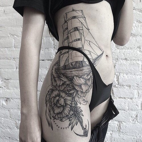 #tattoo #black #white фотография Gerda