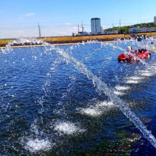 Фотография Sergei: фонтаны на заливе