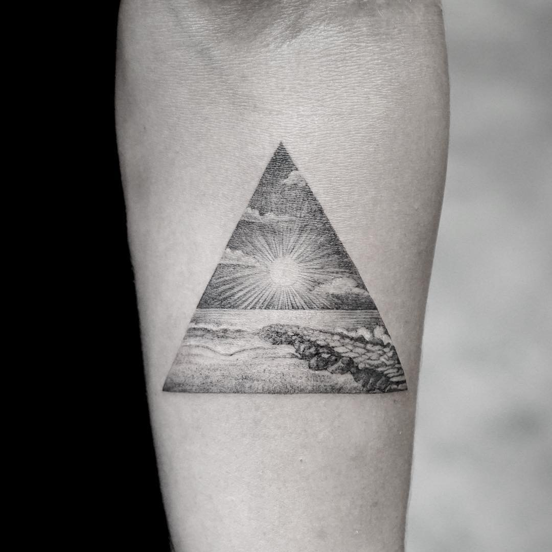 #tattoo #black #white #nature фотографія Gerda