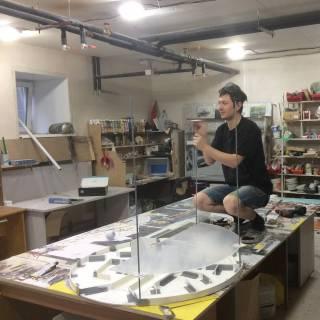 Фотография Vadim: Разрабатываю новый макет #снклевша #макет #мастерская #я #макетирование