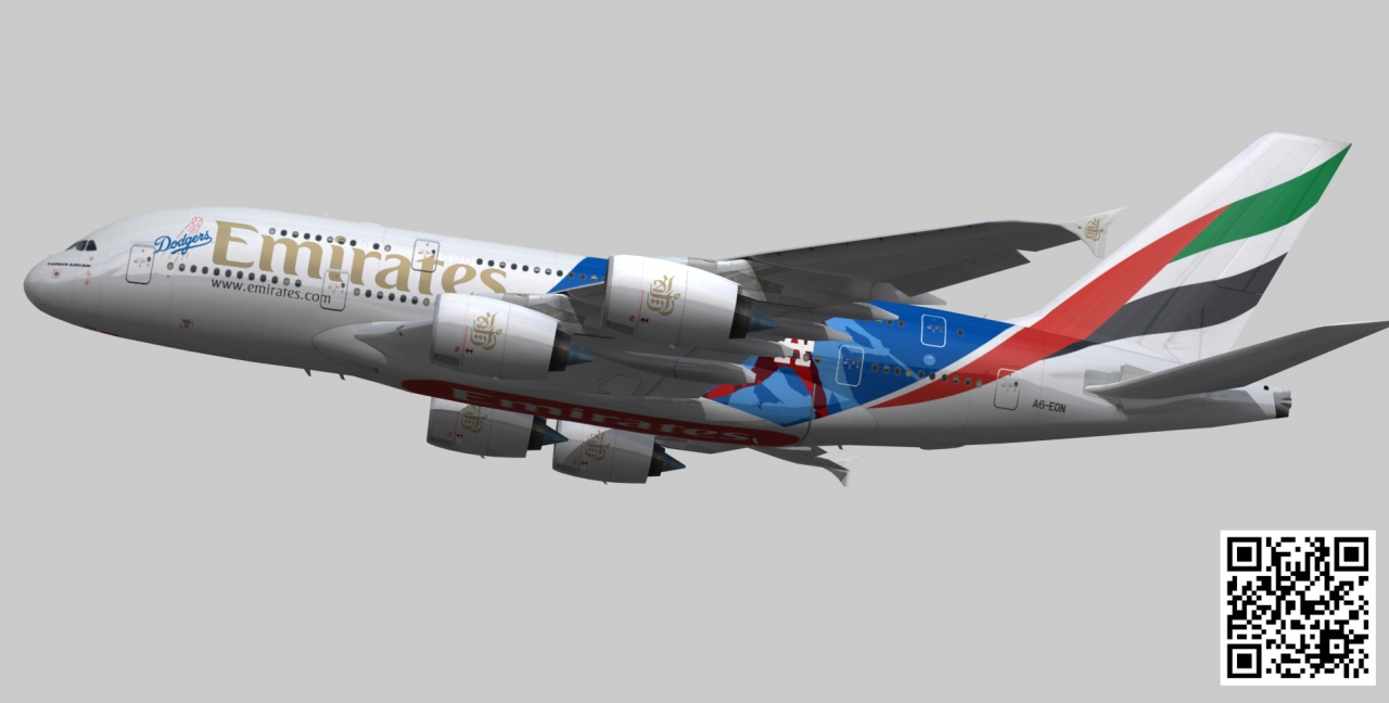 www.cgtrader.com/3d-models/aircraft/commercial/airbus-a380-8-emirates-los-angeles-dodgers-a6-eon Airbus A380-8 Emirates los angeles dodgers A6-EON low-poly 3d model Аэробус а380,VR ready htt.. фотография Alexander