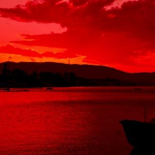 Фотография Alexander: Красивый красный закат
