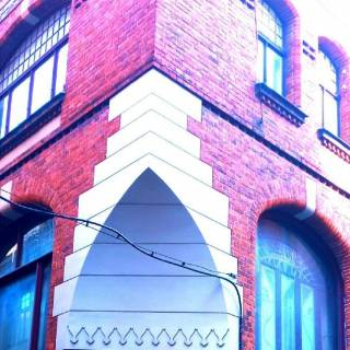 Photo Yvette: old building in old town Vecriga in Riga Latvia