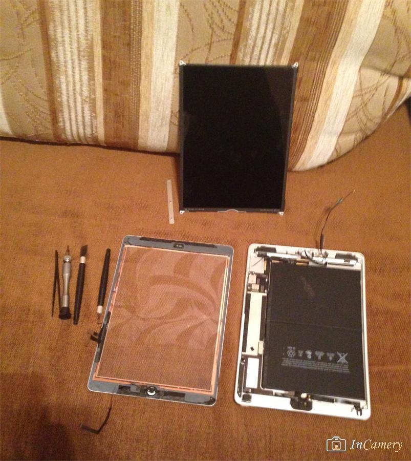 Разбираем гнутый iPad Air, чтобы выпрямить корпус и заменить дисплей с тачскрином. foto Мастер