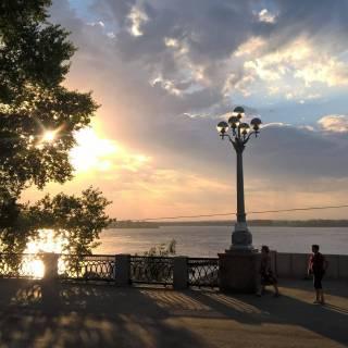 Фотография Наталья: Набережная ....Самара...на реке Волга.